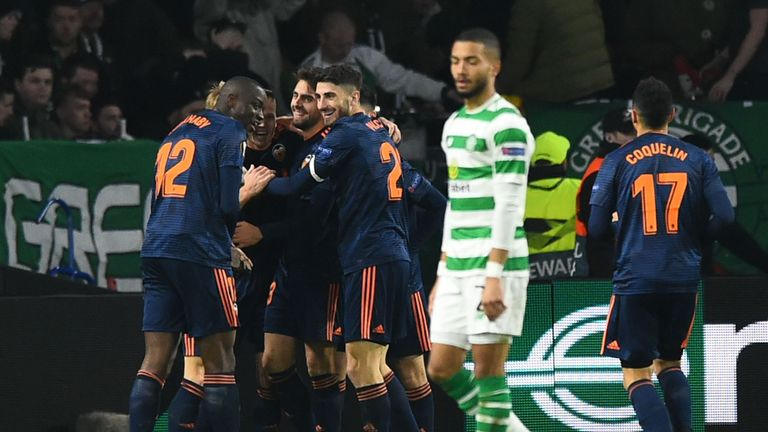 Ruben Sobrino doubled Valencia's lead at Celtic