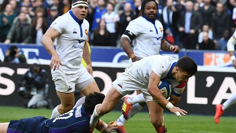 Ntamack scored his first try for France