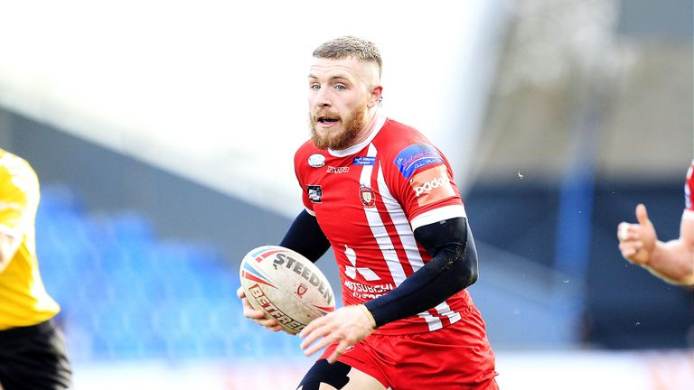 Jackson Hastings took three points for his role in Salford's win at Warrington