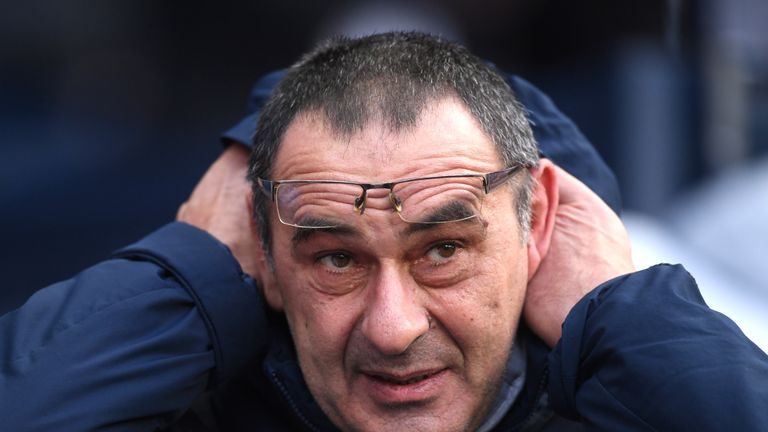 Maurizio Sarri is coming under increasing pressure as Chelsea manager