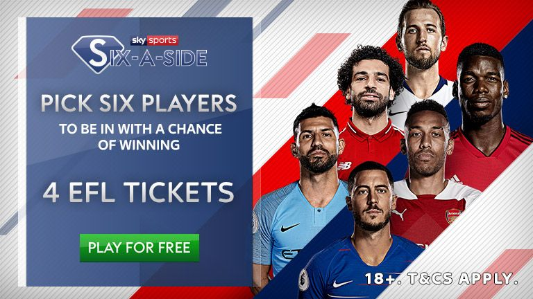 Play Six-a-Side for the chance to win four EFL tickets!