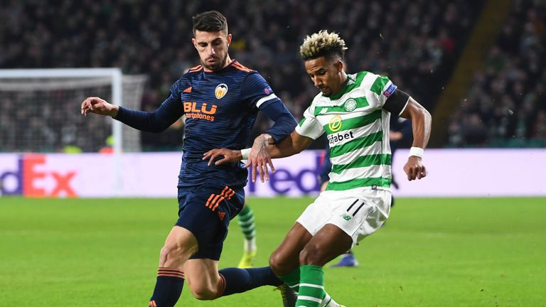 Celtic are 2-0 down in their Europa League tie with Valencia