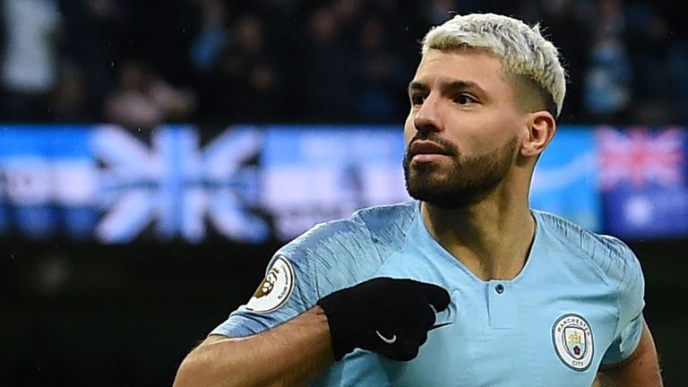 Sergio Aguero scored three goals for City in their win over Arsenal