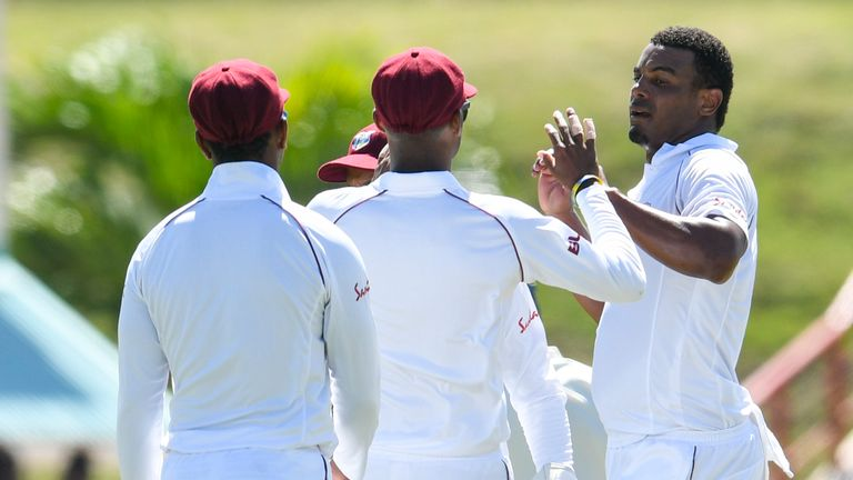 Joe Root suggested Shannon Gabriel (right) said something he could regret