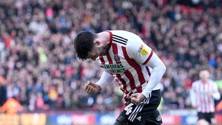 Gary Madine scored his first Sheffield United goals against Reading