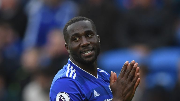 Sol Bamba is sidelined with an ACL injury but has made a team-topping 30 blocks for Cardiff in the Premier League this season - in addition to being the club's joint-top scorer with four goals