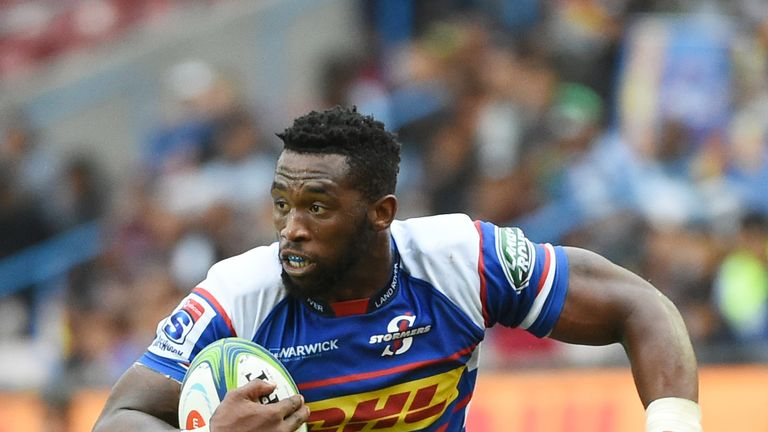 The Stormers' Siya Kolisi on the charge during their Super Rugby clash with The Reds in Cape Town in 2018