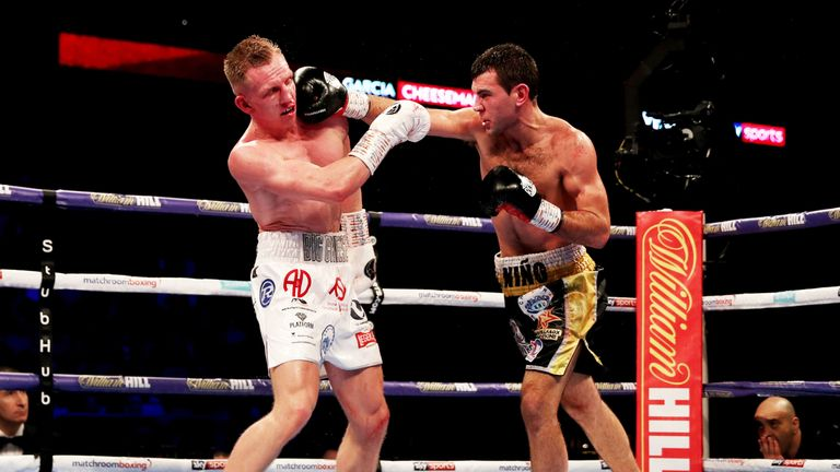 Garcia displayed accurate combinations from the opening bell