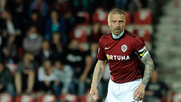 Repka in action for Sparta Prague, where he spent two spells and made over 200 appearances