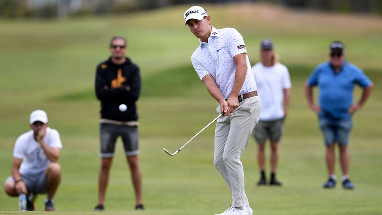 Jason Scrivener is tied for the lead at the Vic Open after two rounds
