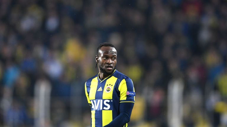 Victor Moses set up Islam Slimani as Fenerbahce seized the initiative in their Europa League last-32 tie