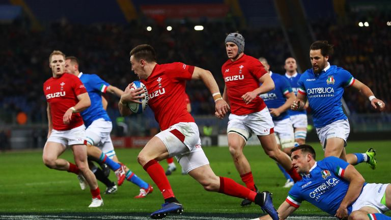 Josh Adams' second-half try proved crucial for Wales