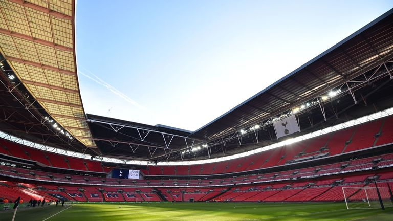 Spurs were playing at Wembley before making the move to their new stadium