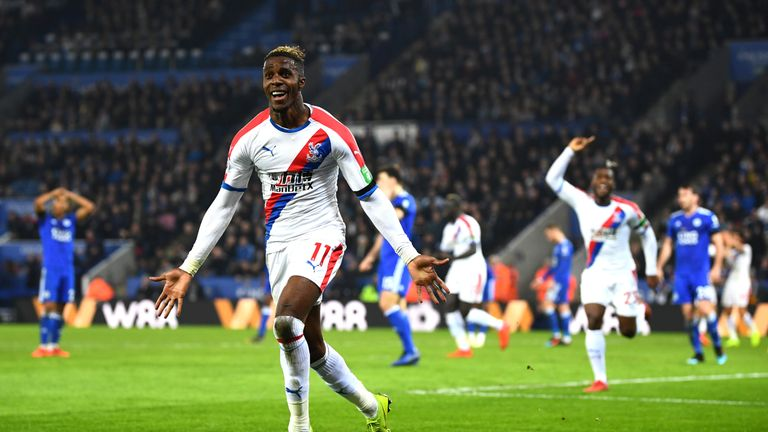 Wilfried Zaha soared up the chart this week
