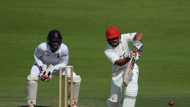 Rahmat Shah struck a second half-century in the Test as Afghanistan secured a historic seven-wicket win