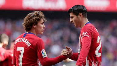 Alvaro Morata says team-mate Antoine Griezmann is happy at Atletico Madrid