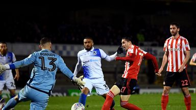 Lewis Morgan scored Sunderland's second goal two minutes after half-time