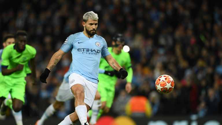 Aguero chipped City into the lead from the penalty spot