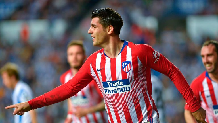 Morata is on loan at Atletico Madrid until the end of next season
