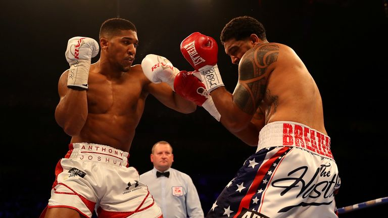 Joshua knocked out Breazeale in the seventh round of their 2016 contest
