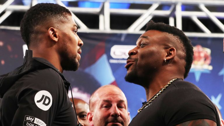 Anthony Joshua and Jarrell Miller meet for their heavyweight clash in June