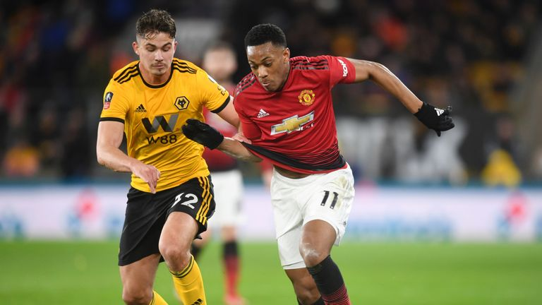 Anthony Martial has withdrawn from the France squad after playing in Manchester United's 2-1 defeat to Wolves on Saturday