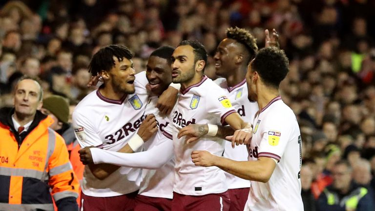 Aston Villa boosted their play-off hopes with a win at the City Ground