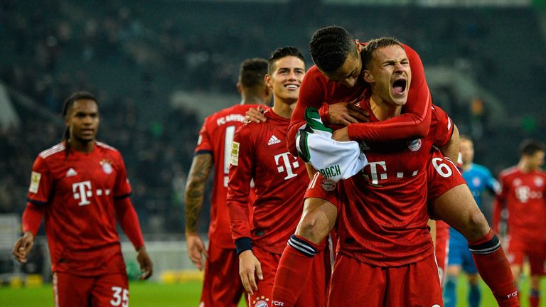 Bayern Munich scored five against Borussia Monchengladbach