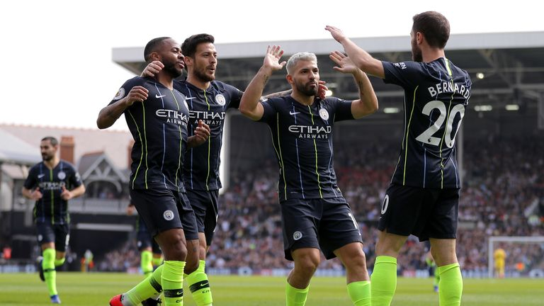 Sergio Aguero is level with Salah at the top of the Premier League scoring charts
