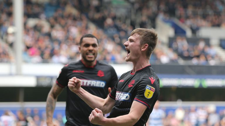 Bolton Wanderers' Callum Connolly celebrates scoring his side's second goal against QPR