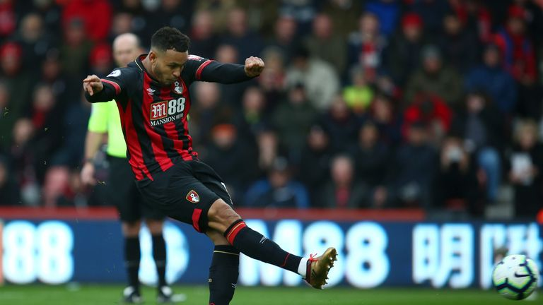 Josh King scores Bournemouth's first goal from the penalty spot