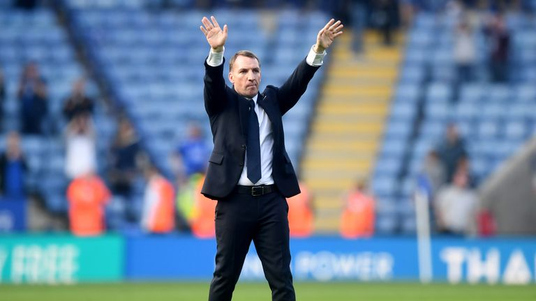 Rodgers predictably describes Leicester's win over Bournemouth as 'outstanding.'