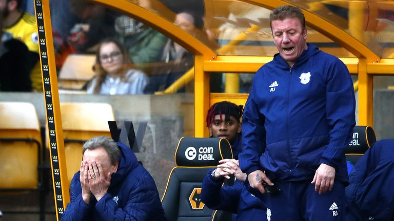 Neil Warnock's Cardiff are in the relegation zone with nine games left of their season
