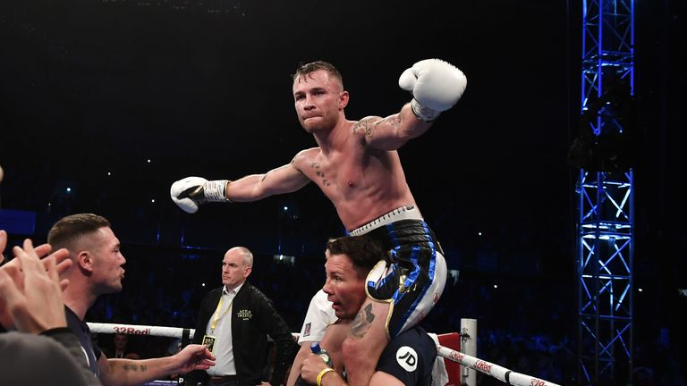 Carl Frampton claimed world titles in two divisions