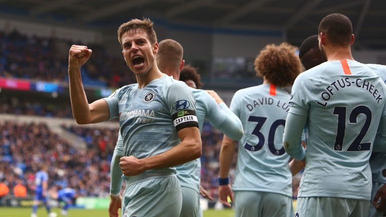 Cesar Azpilicueta scored a controversial equaliser for Chelsea