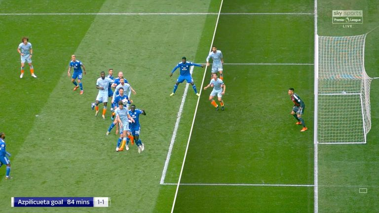 Cesar Azpilicueta scored from an offside position against Cardiff