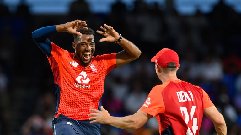Chris Jordan was player of the series as England whitewashed Windies in the T20Is