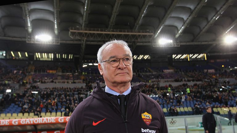 Claudio Ranieri took over at the Stadio Olimpico from Eusebio di Francesco