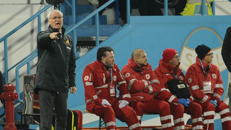 Roma boss Claudio Ranieri looks on during his side's clash with SPAL