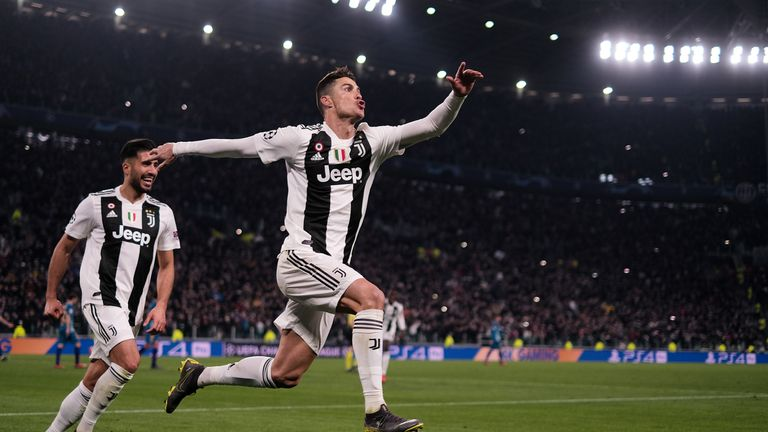 Cristiano Ronaldo struck a hat-trick for Juventus to knock out Atletico Madrid