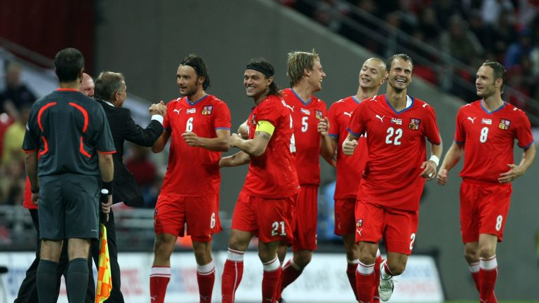 Czech Republic drew 2-2 with England on their last visit to Wembley