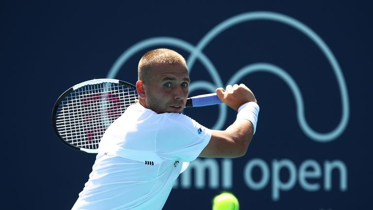 Dan Evans suffered a battling three set defeat in Miami
