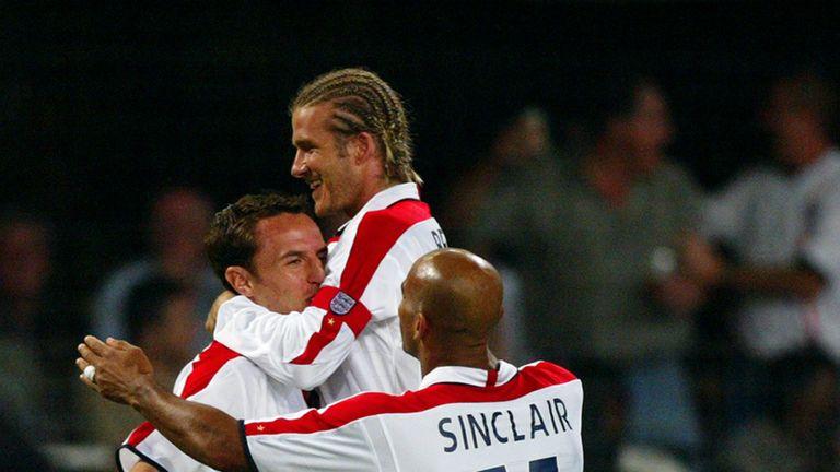 Beckham and Gareth Southgate played for England together