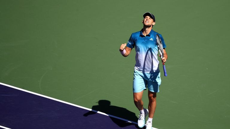 Dominic Thiem reached a third career Masters final with victory over Milos Raonic