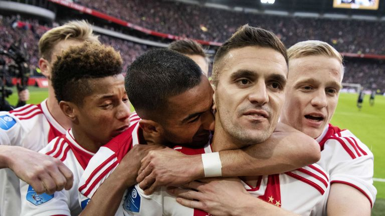 Ajax lead PSV on goal difference with two games remaining