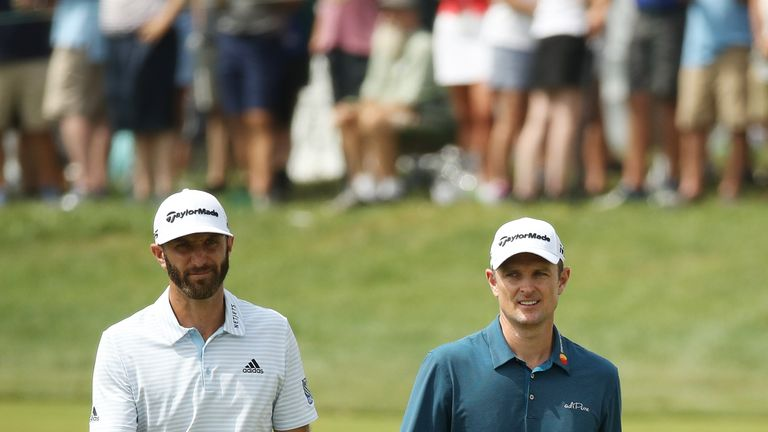 Dustin Johnson and Justin Rose start the week as the world's top two