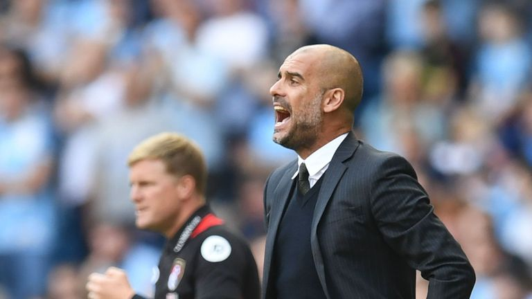 Pep Guardiola has a 100-per-cent win record against Bournemouth