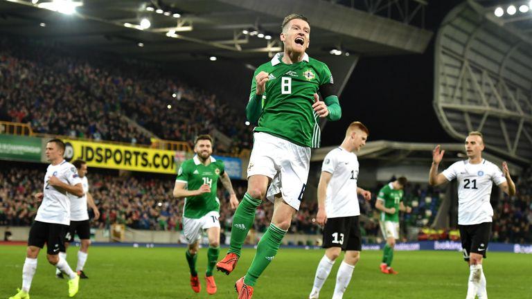 Davis scored the second in Northern Ireland's 2-0 win over Estonia last month