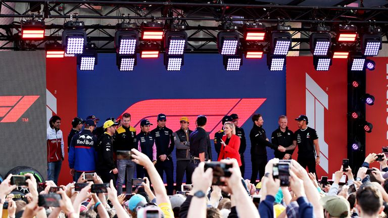The F1 2019 grid