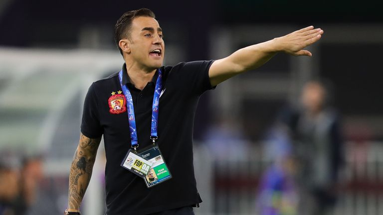Fabio Cannavaro is China's new head coach